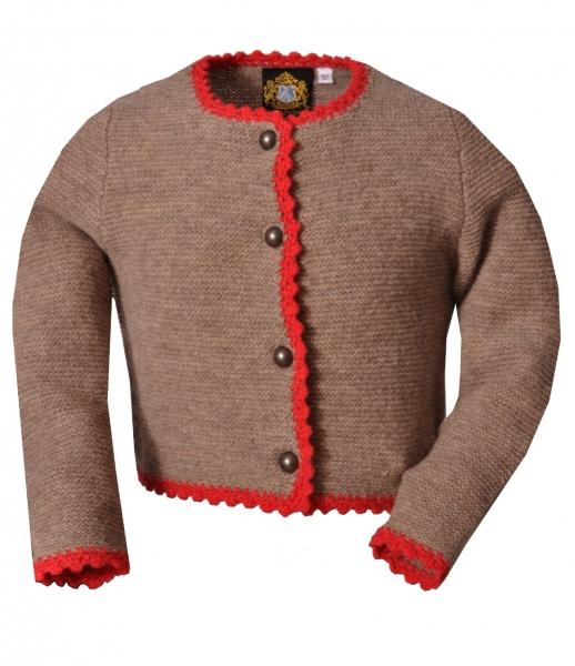 Trachtenweste Trachtenjacke für Kinder Sylt braun/rot Hammerschmid