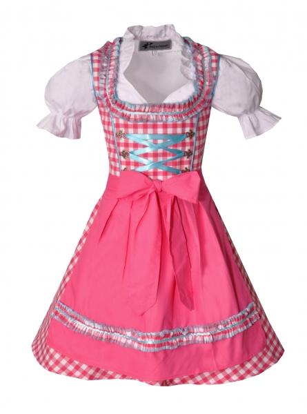 Kinderdirndl Edita pink/türkis Set 3-tlg. Bayer Madl