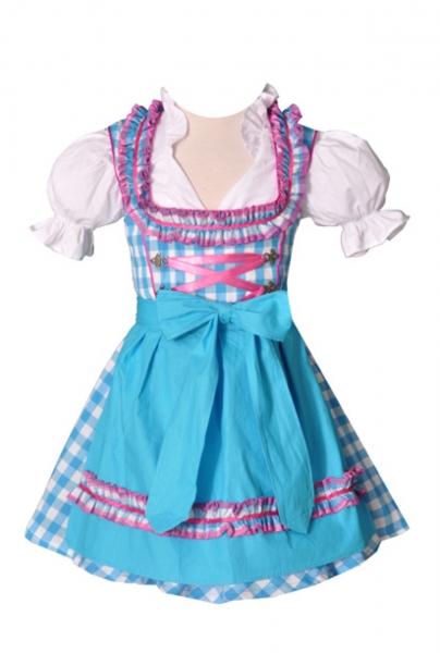 Kinderdirndl Carolin türkis/pink Set 3-teilig von Bayer Madl