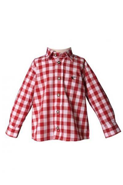 Kinder Trachtenhemd Dominik rot Krempelarm OS-Trachten
