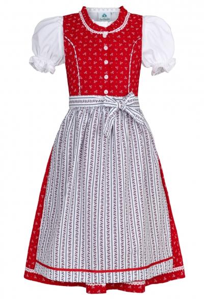Kinderdirndl Jugenddirndl Fuchsstadt rot Trachtenset 3tlg. Isar-Trachten