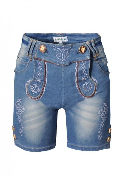 Kinder Jeans kurz Wilburgstetten jeansblau Isar Trachten