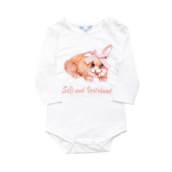 Baby Body Hase/Süß und Verträumt weiß/rosa Louis & Louisa