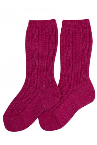 Kinder-Shoppersocken pink Rankenmuster Lusana