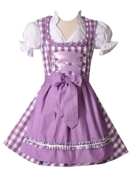 Kinderdirndl Lautertal lila Set 3-tlg. Bayer Madl