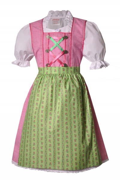 Kinderdirndl Egling rosa grün 3-tlg. Trachtenset
