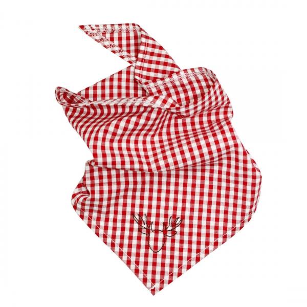 Kinder Trachtentuch Wettringen rot weiß Hirschstickerei Bondi
