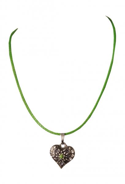 Kinder Trachtenkette Haiming Herz grün Wolkenweiss