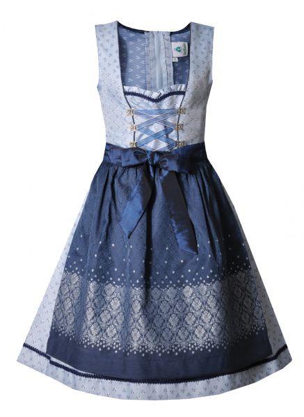 Kinderdirndl Jugenddirndl Euelenhof blau Isar-Trachten