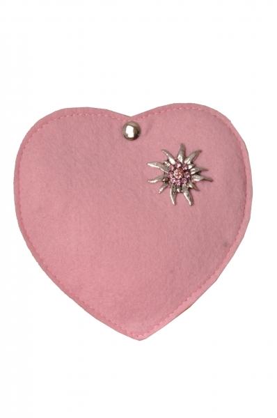 Kinder Trachtentasche Herz Perlesreut rosa Wolkenweis