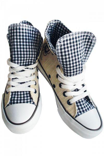 Kinder Trachten Sneaker in beige blau