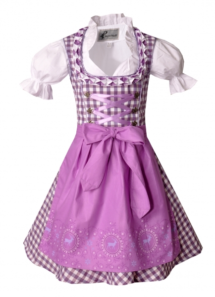 Kinderdirndl Carolin lila Set 3-tlg. Bayer Madl